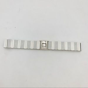 4/$25 NEW Style & Co White Panel Stretch Belt M/L